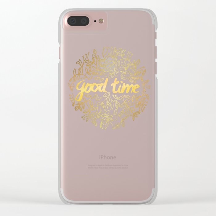 Good Time Clear iPhone Case