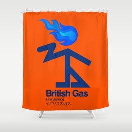 006 BRITISH GAS Shower Curtain