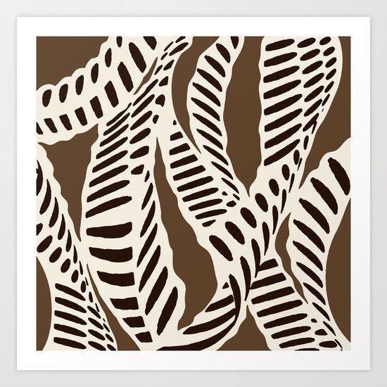 Al Peas: Brown Cream Combo Art Print
