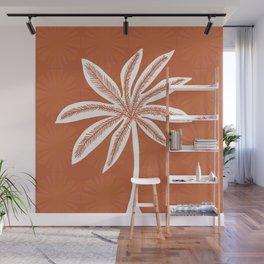 mod palms, burnt orange Wall Mural