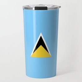 Saint Lucia flag emblem Travel Mug