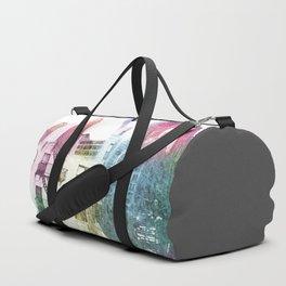 N.Y. collage color burst Duffle Bag