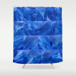 blues en tous sens / square blues Shower Curtain