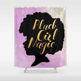 Little Miss Black Girl Magic Shower Curtain