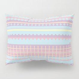 PPASTELL - Pastel, Pink, Lilac, Stripes, Nursery, Baby, Blue Pillow Sham