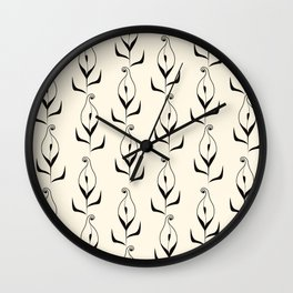 Art Deco No. 47 . Calla . Wall Clock