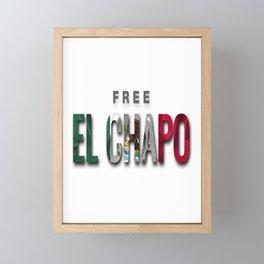 Free El Chapo Framed Mini Art Print
