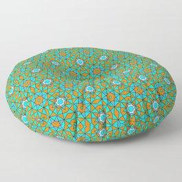 Moroccan Tile 1A - Blue Floor Pillow