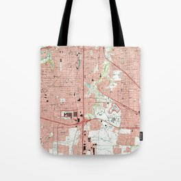 Fort Worth Texas Map (1995) Tote Bag