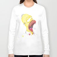 homer Long Sleeve T-shirts featuring Undead Homer by renegade_v2