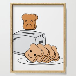 """Cute and adorable loafs that's perfect for gift with text """"Funny bread lover"""" Serving Tray"""