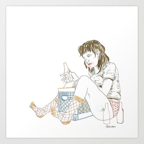 Mixtape illustration Art Print