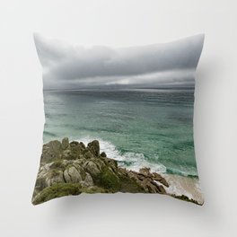 Stormy Cornish morning. Throw Pillow