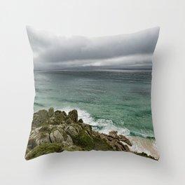 Stormy Cornish morning. Throw Pillow