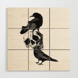 Two Ravens Wood Wall Art