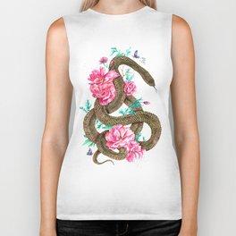 Floral Snake Biker Tank