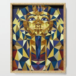 Golden Tutankhamun - Pharaoh's Mask Serving Tray