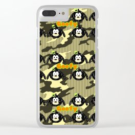 Goofy Pattern Clear iPhone Case