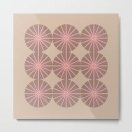 Erizo Pink Metal Print