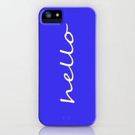 hello blue & white iPhone Case