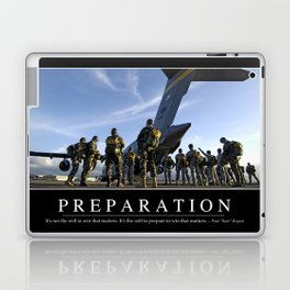 Preparation: Inspirational Quote and Motivational Poster Laptop & iPad Skin