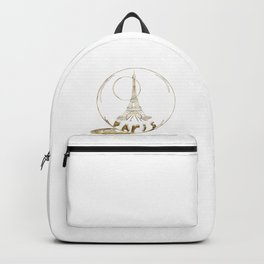 Golden Paris . Eiffel tower . Art Backpack