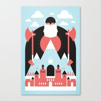 king Canvas Prints featuring King of the Mountain by Chase Kunz