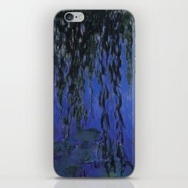 "Claude Monet ""Water Lilies and Weeping Willow Branches"", 1919 iPhone Skin"