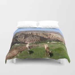 Bighorn Sheep At Sage Creek Duvet Cover