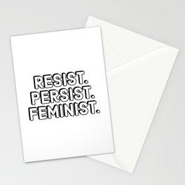 Resist. Persist. Feminist. Stationery Cards