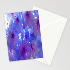 Blue Cherry Blossoms Stationery Cards