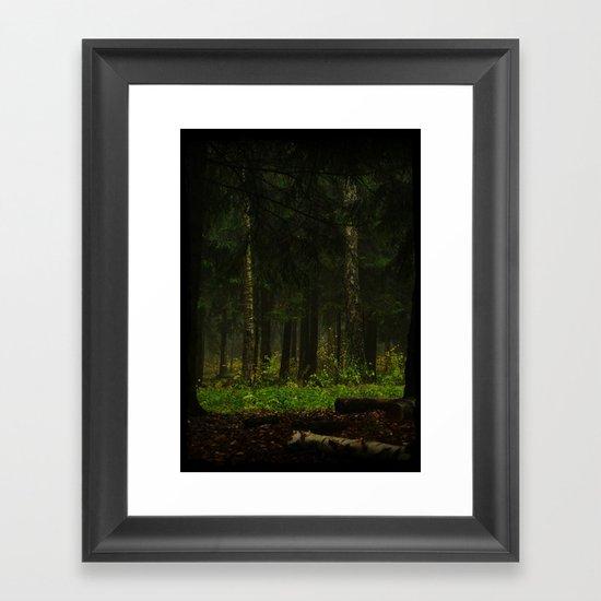 The grass was greener Framed Art Print