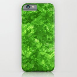 Dark pastel variegated green stars in the projection. iPhone Case