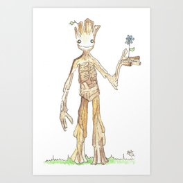 I AM GROOT Art Print