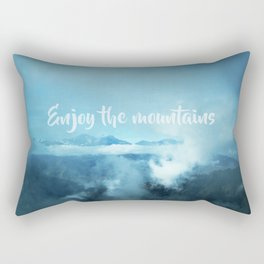 Enjoy the mountains Rectangular Pillow