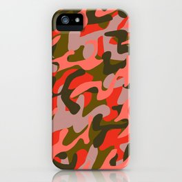 Coral Camouflage 2 iPhone Case