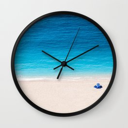 Alone On The Beach Wall Clock