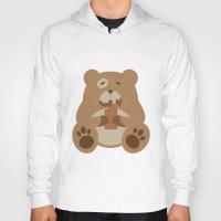 teddy bear Hoodies featuring Teddy Bear by EinarOux