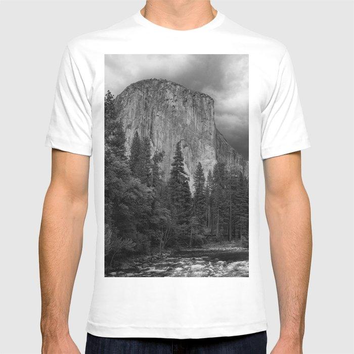 bc2640e3a Yosemite National Park, El Capitan, Black and White Photography, Outdoors,  Landscape, National Parks T-shirt