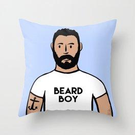 Beard Boy: Charlie Throw Pillow