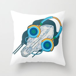 Tune of Teal Throw Pillow
