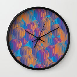 sunset baloons Wall Clock