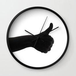 Silhouette hand ok symbol Wall Clock