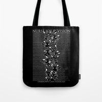 joy division Tote Bags featuring Nurse Joy Division by Tobe Fonseca