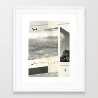 concrete Framed Art Prints featuring Concrete by Zach Collins Art