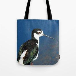 Juvenile Black Necked Stilt Tote Bag