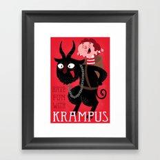 Have fun with Krampus Framed Art Print