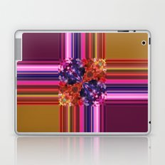 Purplish-Red and Gold Colorblock Abstract Laptop & iPad Skin