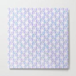 Woven Lavender Metal Print