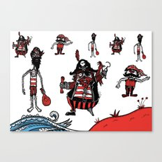 Everyone loves a pirate. Inspired by Captain Pugwash Canvas Print